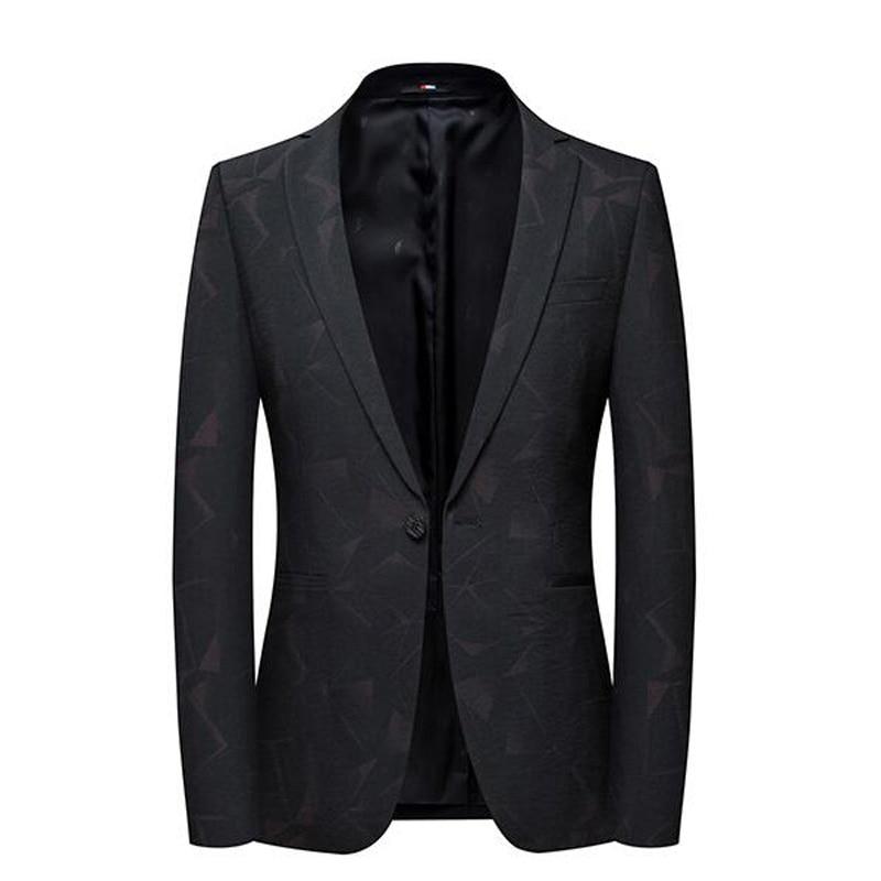2019 New Blazer British Stylish Male Blazer Suit Jacket Business Casual One Button Blazer For Men Regular Abrigo Hombre SHIERXI