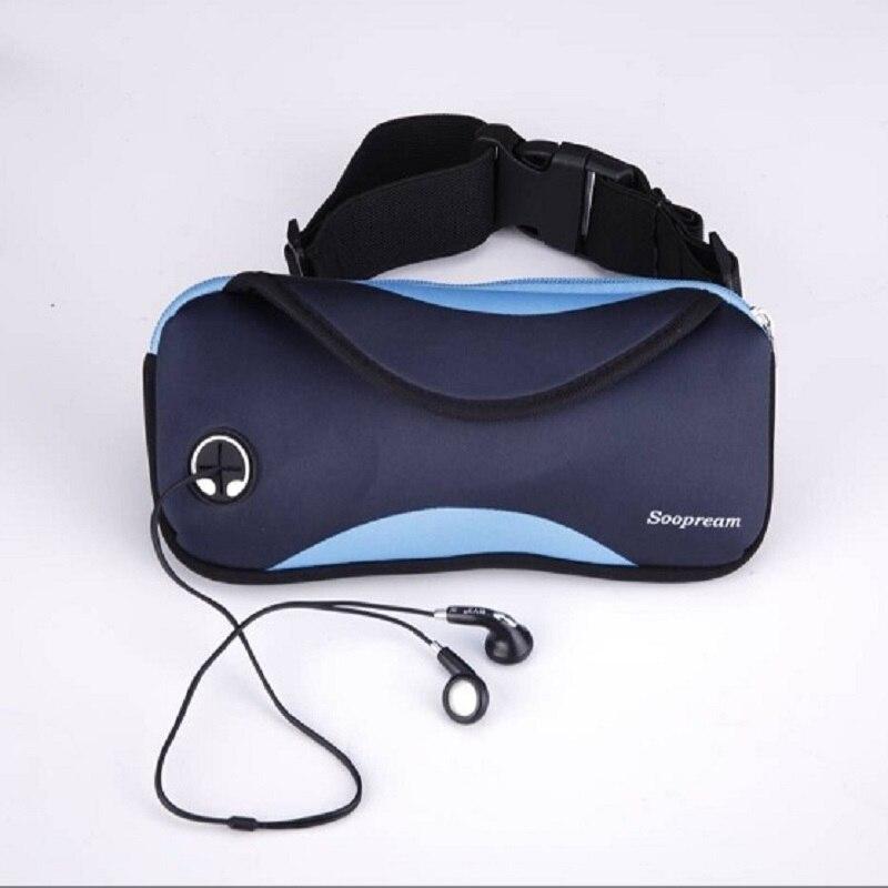 2018 new waist packs black neoprene waterproof fanny pack pillow belt waist bag fanny pack for women wallet money belt bag men