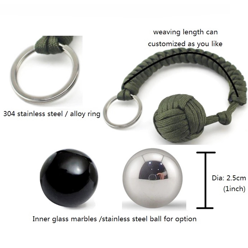 monkey fist steel ball keychain (3)