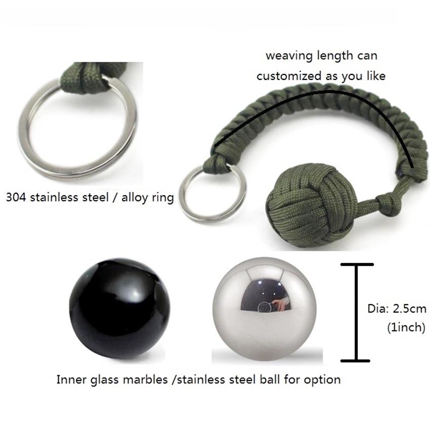 monkey fist steel ball keychain (3)