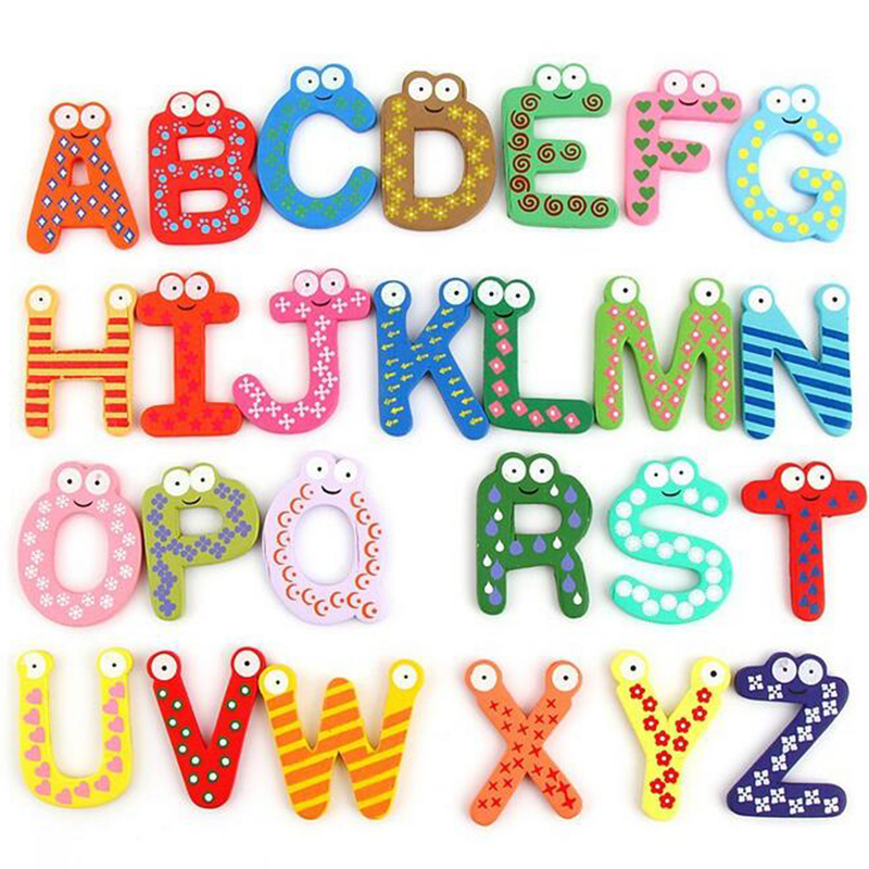 Wooden Digital Letter Fridge Magnets Children's Early Learning Educational Maths Toy Wooden Refrigerator fridge magnet stick-in Fridge Magnets from Home & Garden