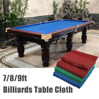 7ft 8ft 9ft Eight Ball Billiard Pool Table Cloth Replaceable Billiard Cover for American Billiards Snooker Accessories Worsted
