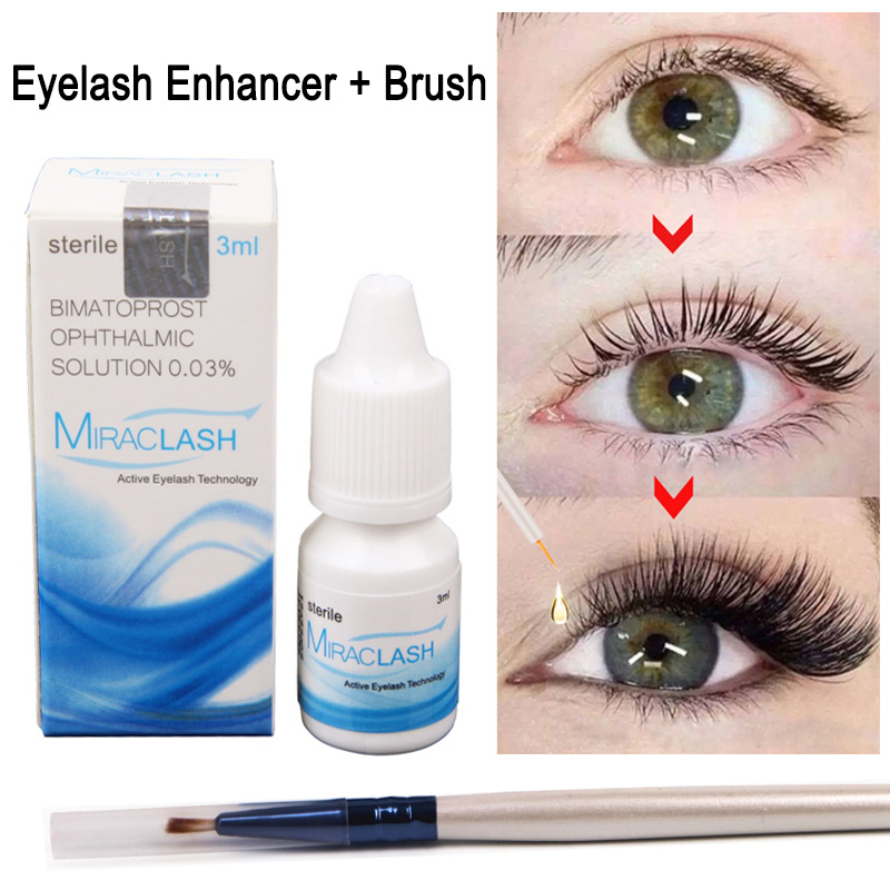 Eyelash Growth Enhancer Natural Eyelashes Longer Fuller Thicker Treatment Eye Lashes Serum Mascara Lengthening Eyebrow Growth