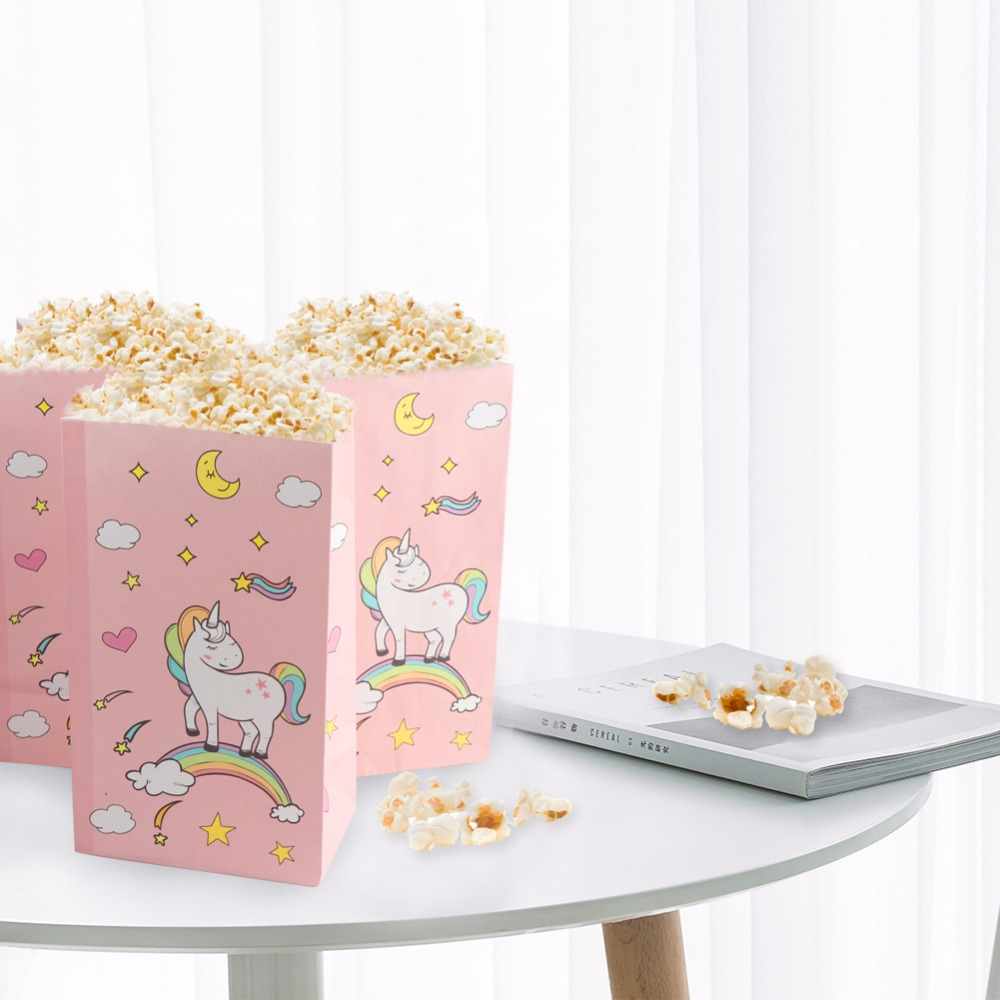 Aytai 12pcs Unicorn Party Pink Paper Bag With Sticker Gift para - Para fiestas y celebraciones - foto 4