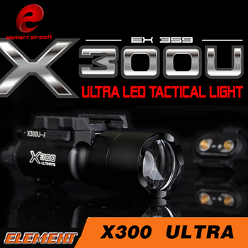 Tactical SF X300 Ultra Pistol Gun Light X300U 500 Lumens High Output Weapon Flashlight Fit 20mm Picatinny Weaver Rail