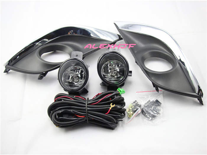 July King Car Fog Lamp Assembly With Fog Lamp Cover, Fog Lamp With Switch And Harness Kit case for Nissan Sunny Versa 2014-ON for nissan patrol y62 armada accessories original design fog lamp with chrome fog light cover