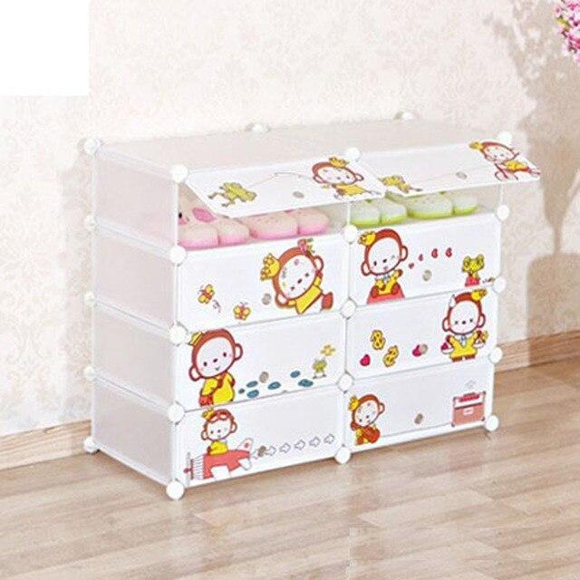 The new plastic cartoon cute shoe minimalist modern kids closet organizer childrens wardrobe
