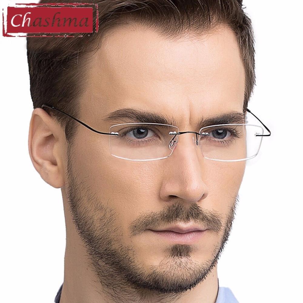 Titanium Eyewear Armacao Para Oculos De Grau Frameless Titanium Alloy Eye Glasses Frame Optical Glasses Frames For Women And Men