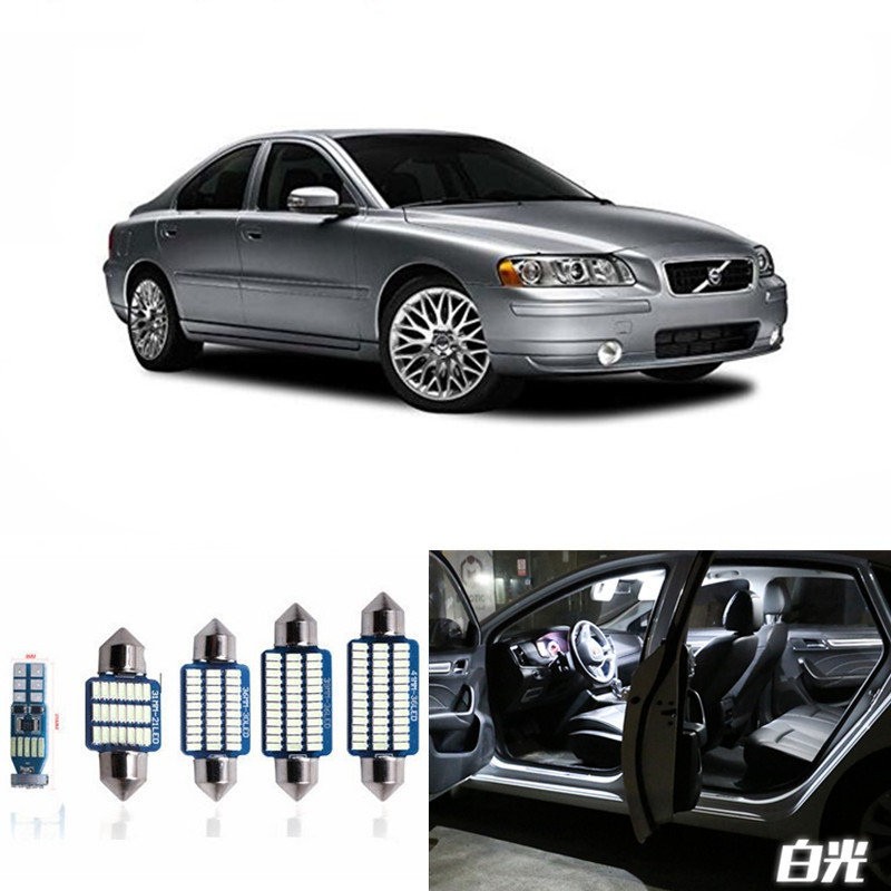 19pcs No Error Canbus Car LED Light Bulbs Interior Package Kit For 2000-2009 Volvo S60 Sedan Map Dome Trunk Glove Box Lamp White 9pcs canbus error free white car led light bulbs interior package kit for 2002 2005 mini cooper map dome license plate lamp