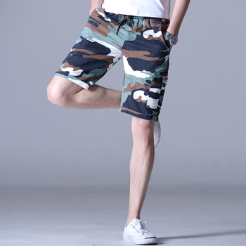 NEW 2020 Summer Camouflage shorts men's beach casual mens Army military large size 5XL breeches Elastic waist shorts men large waist mens cargo shorts plus size bermuda jeans shorts cotton men summer shorts breeches denim shorts male big size 46