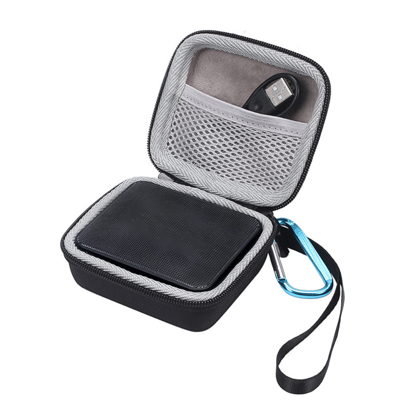Portable Hard EVA Pouch Bag For JBL GO2 Mini Bluetooth Speaker + Charger Cables With Hanging Hook Accessory