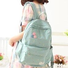 Korea nette Frauen Leinwand Rucksack schultasche Für Mädchen Damen Teenager Casual reisetaschen Schulranzen Rucksack BS287