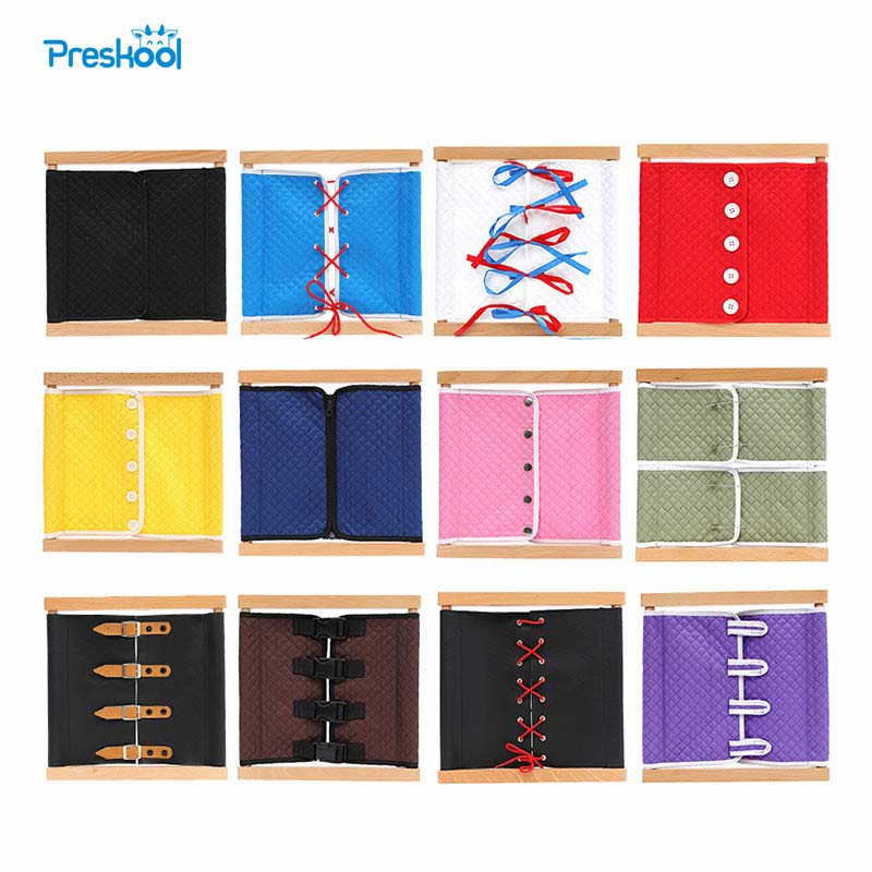 Preskool Baby Toy For Children Montessori New Removable Dressing Frame Wood Toys Early Educational Teaching Aids