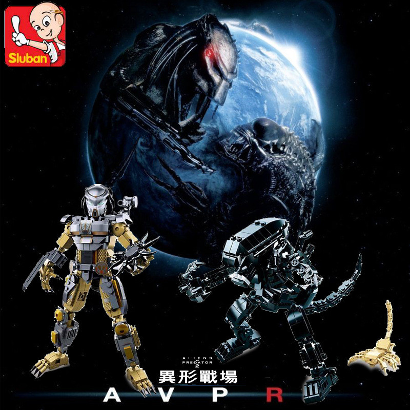 2018 NEW LegoINGs ALIENS VS PREDATOR Model Star Wars Building Blocks Sets Rebot Figures Creator Educational Toys For Children
