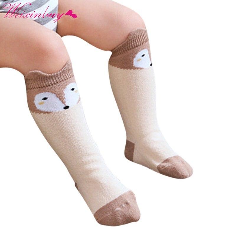 Infant Cotton Blend Soft Warm Anti-slip Knee Socks Gifts Toddler Baby Long Socks