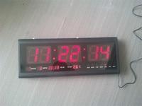 HT4819SM 2 Free Shipping Aluminum Large Digital LED Wall Clock Big Watch Modern Design Digital Clock