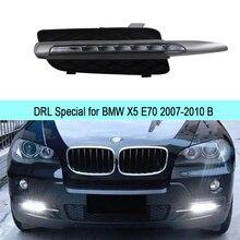 Auto DRL Kit für BMW X5 E70 2007-2010 LED Tagfahrlicht Bar super helle auto nebelscheinwerfer tageslicht für auto led drl licht 12 v