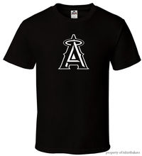 Angels - Black T-Shirt Fan Baseball California Anaheim Champs All Size S-3XL Harajuku Tops Fashion Classic Unique free shipping