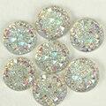 100pcs Clear AB Acrylic Resin FlatBack Round Sew On Rhinestone 2 holes Sew-on Reinestones Sewing Beads for Wedding Dress B2232
