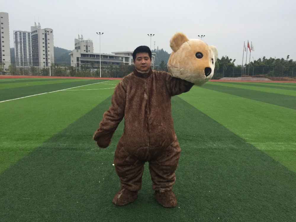 Free Shipping High Quality Masha Bear Ursa Grizzly Mascot Costume Cartoon Character