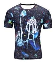 High Quality Water Droplets Move Printed 3D T-shirts Punk 3D Short Sleeve T-Shirt M-4XL style Men's T-Shirts(China)