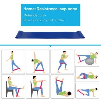Yoga Training Equipment Including 5 PCS/Set Resistance Loop Band, 10