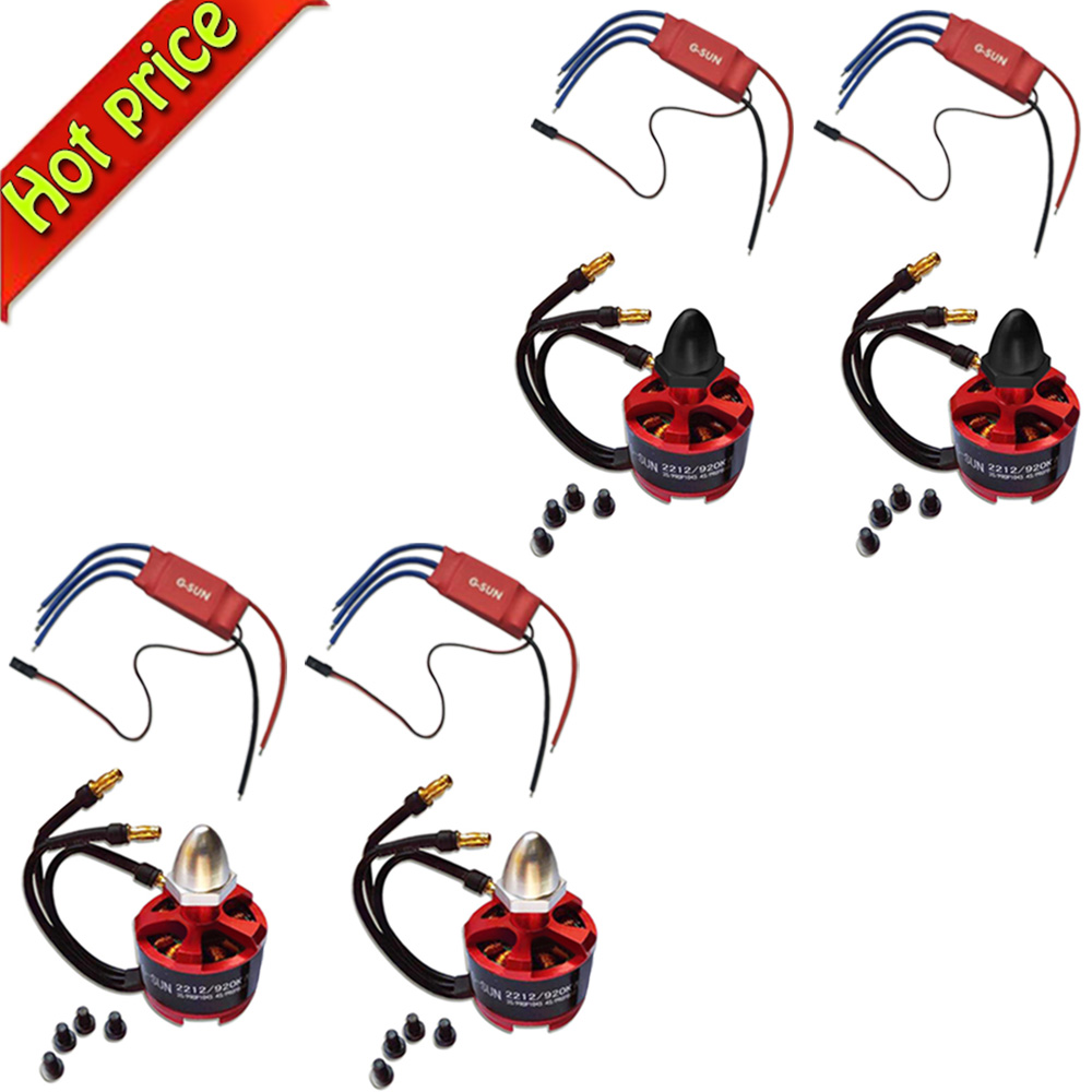 4pcs 30A SimonK firmware Brushless ESC+4x CW CCW 2212 920KV Brushless Motor 2212 920kv brushless motor cw ccw 30a simonk brushless esc 1045 propeller for f450 f550 s550 f550 quadcopter frame