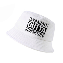 Straight Outta Compton NWA California GOTHIC Eazy E NWA Dr. Dre hip hop bucket hat Men women Cotton Summer panama fisherman hat