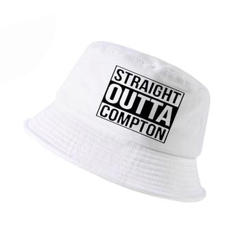 Straight Outta Compton NWA California GOTHIC Eazy E NWA Dr. Dre hip hop bucket hat Men women Cotton Summer panama fisherman hat топ спортивный eazy way eazy way mp002xw0zx2x