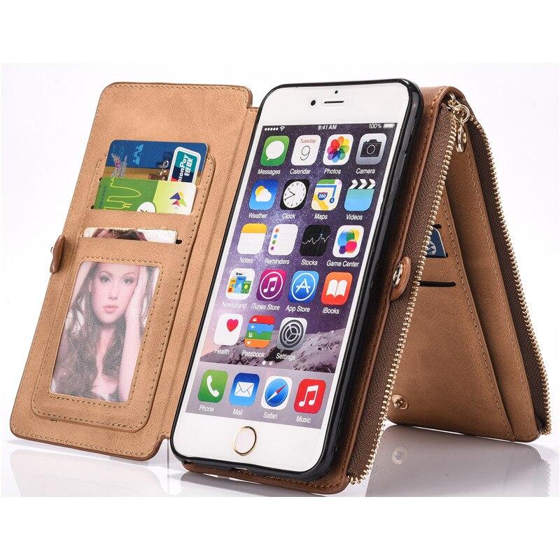 bilder für Luxus Ledertasche Für iPhone 7 6 6 s Plus Magnetic Flip Case 12 Kartensteckplätze Mappenabdeckung Coque Telefonkasten Für iPhone 7 Plus Capa