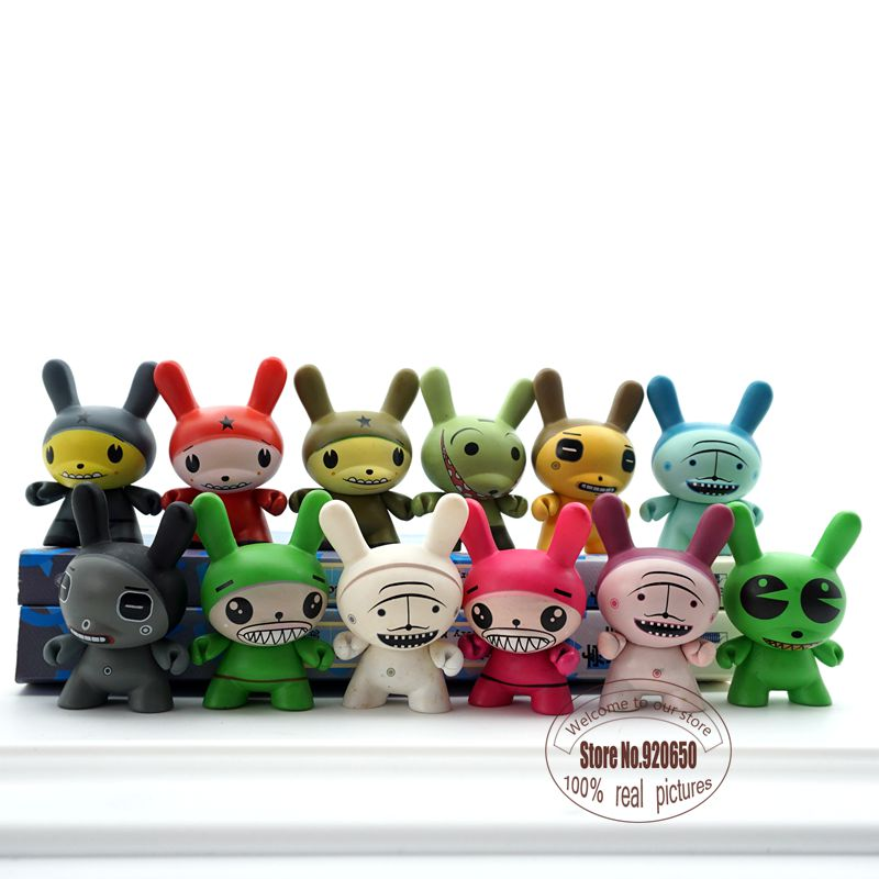 3pcs/set  3inch dunny kidrobot toy medicom toy  fancy gift home decoration