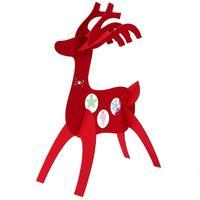 30cm Christmas Gift Table Decoration Felt 3D Christmas Deer Ornament Pendant Display Window Wedding Decor