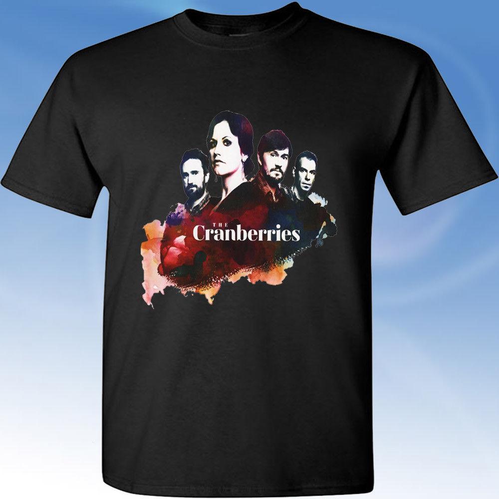 Lingonberry Dolores O'Riordan Memorial Black T-shirt shirtHipster Round Neckline Cool Shirts