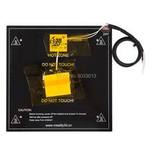 1 шт. 3d принтеры Запчасти черный очаг алюминий кровать с подогревом для Ender-3 24 В кабелем