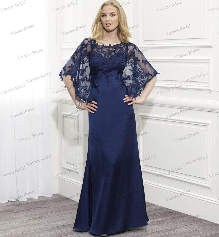 Hot Sale Bateau Neck Top Lace Floor Length Dresses For Mother Long ...