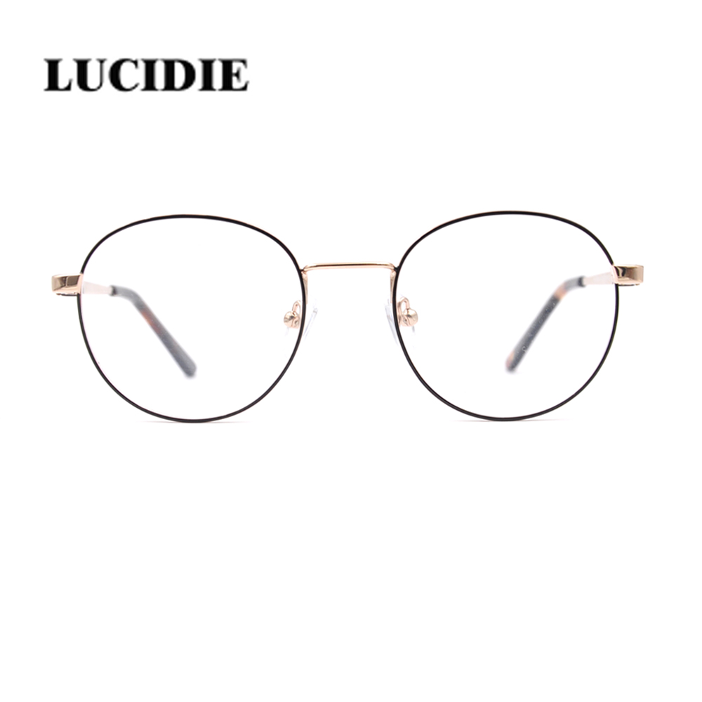 Latest fashion Boy & Girl Metal Vintage Classic Glasses Frame Clear Lens Popular Prescription Transparent Round Eyeglasses Frame image
