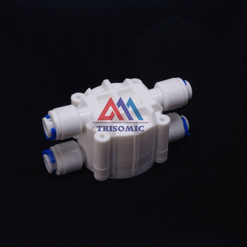 1/4 schlauch Schnelle Verbindung Automatische Abschaltung 4 Way Ventil Schnellspann-befestigung Verbindung Aquarium Ro Wasserfilter Umkehrosmose System Sanitär Rohre & Armaturen