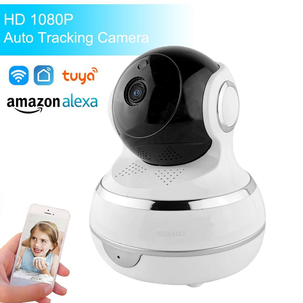1080P HD Tuya Smart Life Wireless IP Camera Two Way Audio Auto Tracking Pan Tilt Security