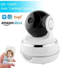1080P HD Tuya Smart Life Wireless IP Camera Two Way Audio Auto Tracking Pan Tilt Security WiFi Camera