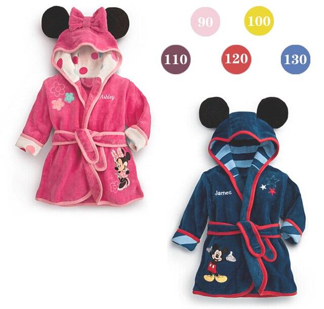 2016 boys girls cartoon Baby bathrobe baby hooded bath towel robe high quality children Bathing Suits