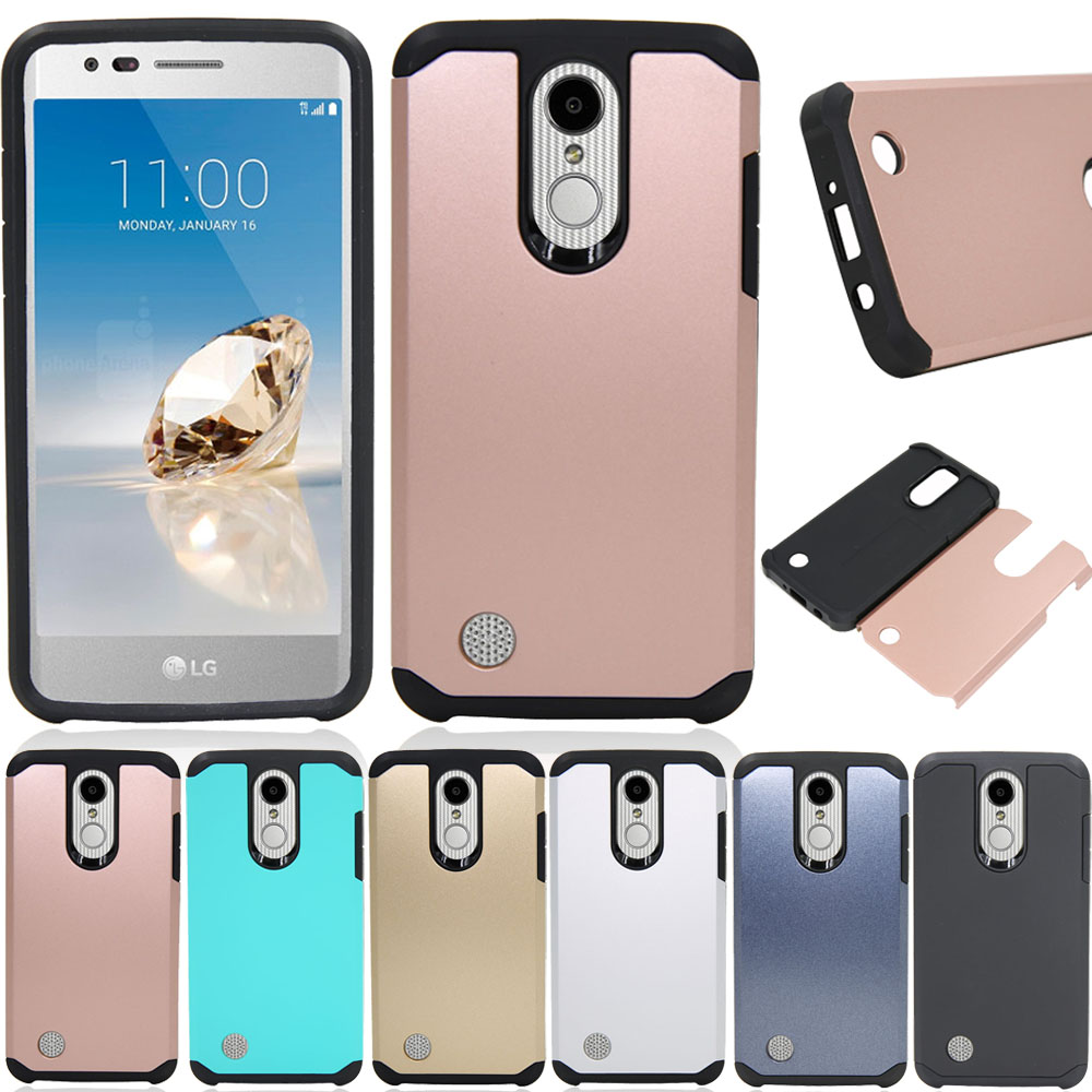 Case For LG K10 2017 Dual Layer Shockproof Hybrid Armor Case Slim Hard Back Skin Cover For LG K20 Plus/K20 V/LV5/K10 2017 @