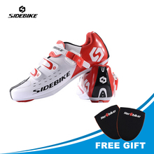 цены SIDEBIKE Men Athlet Cycling Shoes Road Bike Shoes Bicycle Road Sports Shoes Sneakers Autolock Sapato Clismo SD-001