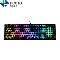 104 Keys ABS Keycap Red Cherry MX Wired Backlit RGB Mechanical Gamer Keyboard HGK104 R C US