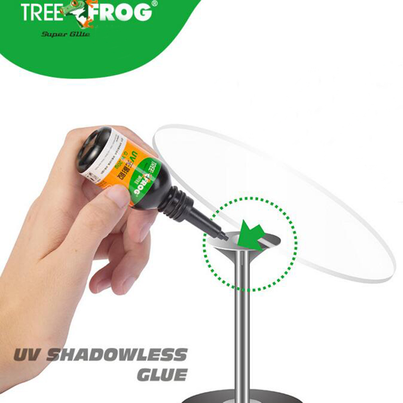 Tree Frog 20g liquid glue with light adhesive for curing jewelry nails glass phone screen plastic DIY tool equipment UV Glue in Liquid Glue from Office School Supplies