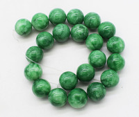 deep green jade round 18mm loose beads nature beads for making jewelry necklace 14inch FPPJ wholesale