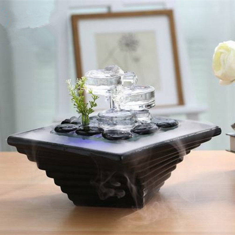 fountain office home decor wedding decoration gift ceramic water