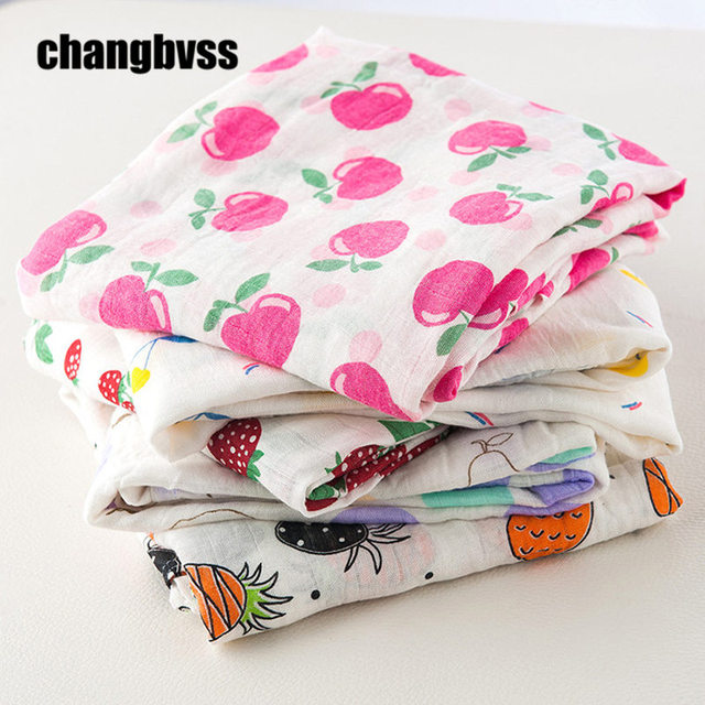 Baby Bamboo Blanket Pattern: Aliexpress.com : Buy Colorful Fruits Patterns Baby Swaddle