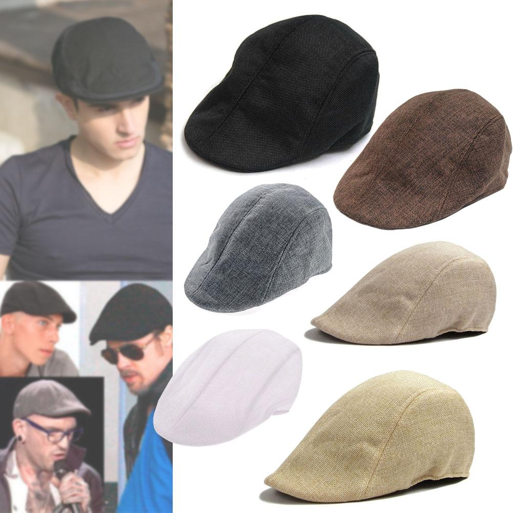 Fashion Mens Gatsby Ivy Cap Warm Corduroy Tweed Newsboy Golf Gatsby Caps  Driving Beret Hat For Man Summer Supply Free ship-in Berets from Apparel ... e6ff399405e
