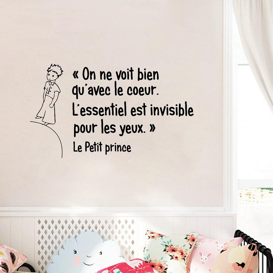 frans de kleine prins quotes vinyl muursticker kinderen jongens kamer slaapkamer prins wall art mural decals decor in frans de kleine prins quotes vinyl