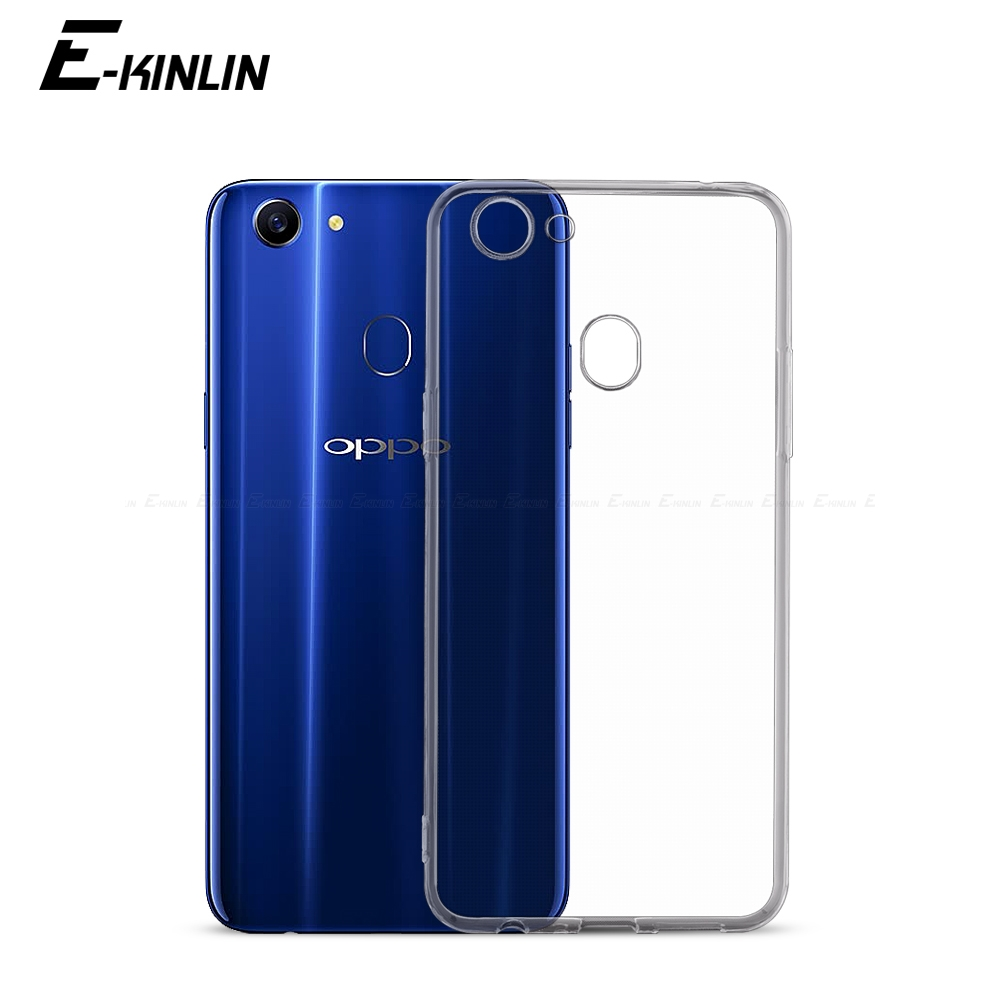 Ultra Thin font b Slim b font Clear Soft Protective TPU Case For Oppo F9 Pro